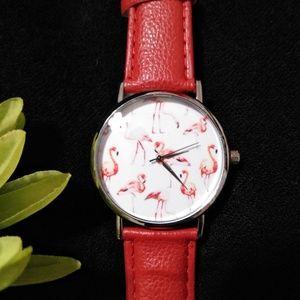 New Fresh Flamingo Wristwatch